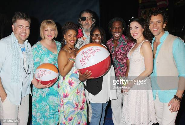 Eric Petersen Lisa Howard Rema Webb Don Sparks Whoopi Goldberg Andre Ward Alison Luff and Paul Alexander Nolan pose backstage at the hit musical...