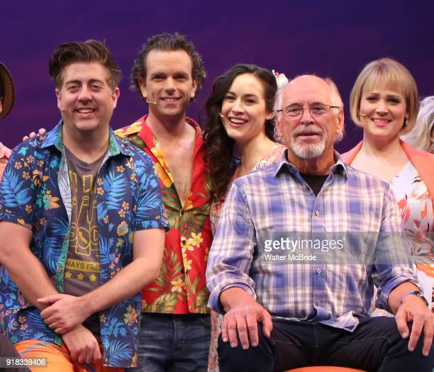 Eric Peterson Paul Alexander Nolan Alison Luff Jimmy Buffett and Lisa Howard during the Press Sneak Peak for the Jimmy Buffett Broadway Musical...