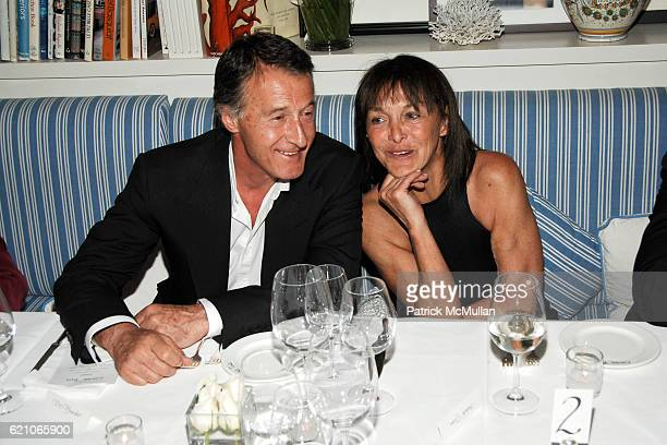 Eric Pfrunder and Babeth Djian attend CHANEL Private Dinner for KARL LAGERFELD at Casa Tua on May 14 2008 in Miami Beach FL