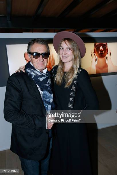 Eric Pfrunder and Delphine Roche attend the Solve Sundsbo pour Numero Exhibition Opening at Studio des Acacias on December 12 2017 in Paris France