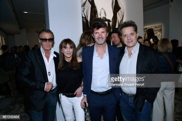 Eric Pfrunder Creator of the 'Numero magazine' Babeth Djian CEO of Mazarine Group PaulEmmanuel Reiffers and President of the Palais de Tokyo Jean de...