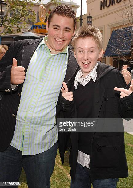 Eric Phillips and Dean Collins during 'Hoot' Los Angeles Premiere Red Carpet at The Grove in Los Angeles California United States