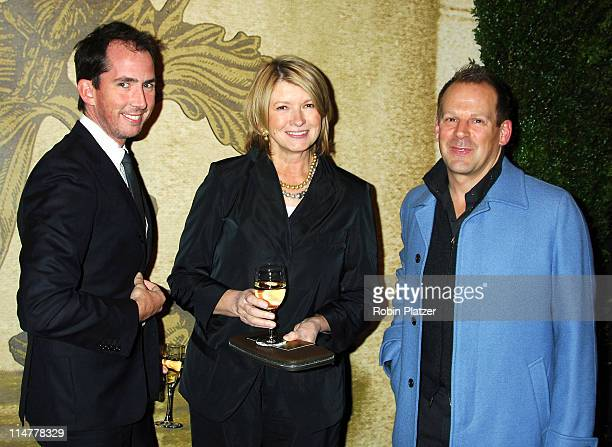Eric Pike Martha Stewart and Kevin Sharkey during The 52nd Annual Winter Antiques Show Benefitting The East Side House Settlement at The Seventh...