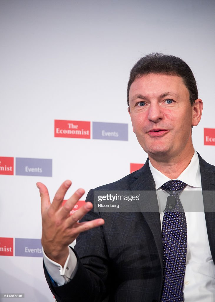 Eric Piscini, principal at Deloitte Consulting LLP, speaks during The Economist's Finance Disrupted conference in New York, U.S., on Thursday, Oct. 13, 2016. The conference will explore what the digital revolution means for finance and the broader economy. Photographer: Michael Nagle/Bloomberg via Getty Images