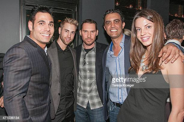 Eric Podwall Adam Killa Bryan Singer Emil Michael and Julie Herrin attend The Evening Before a preWhite House Correspondents' Dinner party hosted by...