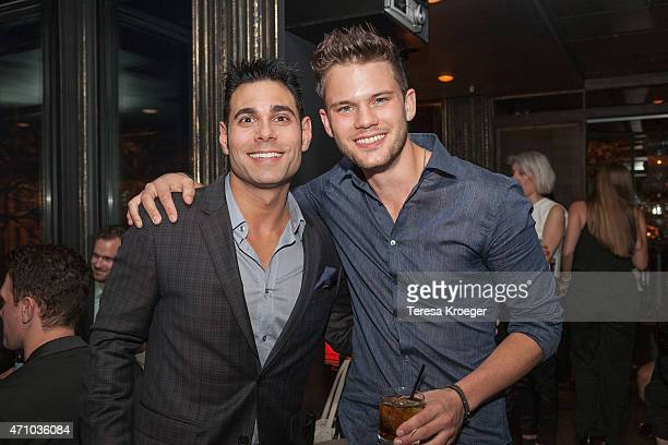 Eric Podwall and actor Jeremy Irvine attend The Evening Before a preWhite House Correspondents' Dinner party hosted by Eric Podwall and Spotify at...