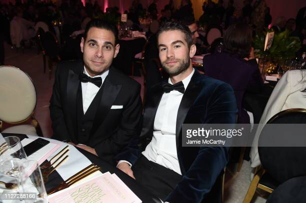 Eric Podwall and Chace Crawford attend the 27th annual Elton John AIDS Foundation Academy Awards Viewing Party sponsored by IMDb and Neuro Drinks...