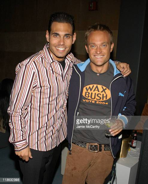 Eric Podwall and Chad Allen during The Unofficial Afterparty for the John Kerry Fundraiser at Radio City Music Hall at Suede in New York City New...