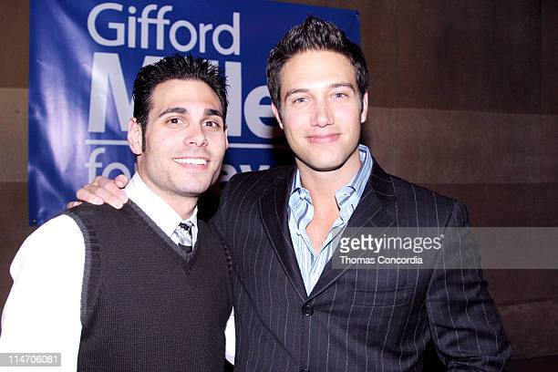 Eric Podwall and Eric Villency during Gifford Miller for New York City Mayor Press Conference May 19 2005 at Suede in New York City New York United...
