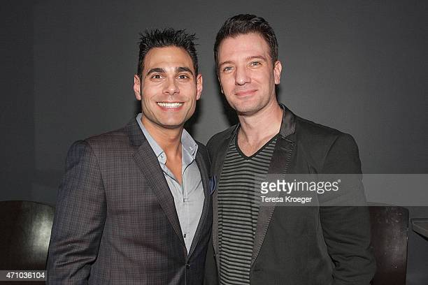 Eric Podwall and JC Chasez attend The Evening Before a preWhite House Correspondents' Dinner party hosted by Eric Podwall and Spotify at Chaplin's...