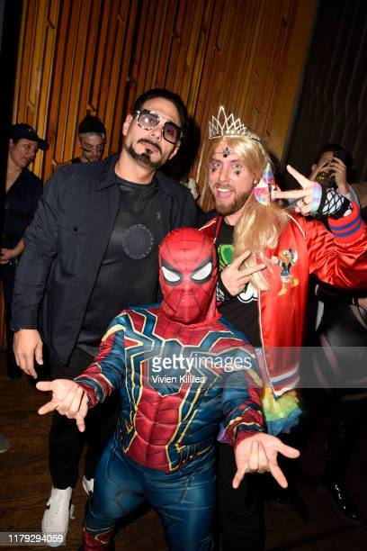 Eric Podwall and Lance Bass attend Podwall Entertainment's 10th Annual Halloween Party presented by Maker's Mark on October 31 2019 in West Hollywood...