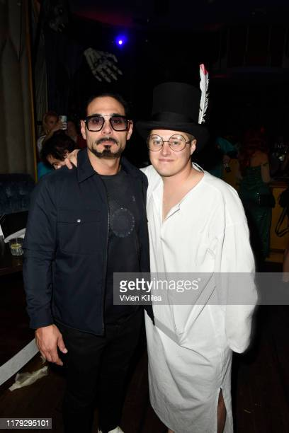 Eric Podwall and Lucas Grabeel attend Podwall Entertainment's 10th Annual Halloween Party presented by Maker's Mark on October 31 2019 in West...