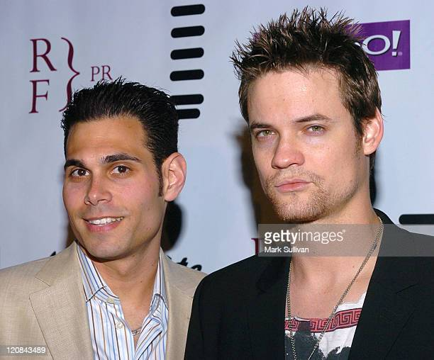 Eric Podwall and Shane West during Eric Podwall and Shane West Birthday Party June 18 2005 in Los Angeles California United States