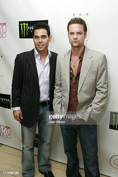 Eric Podwall and Shane West during Shane West and Eric Podwall's Birthday Party June 25 2006 at Skybar in Hollywood California United States