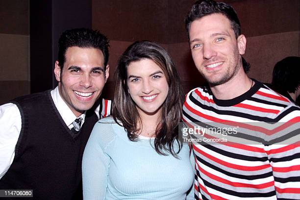Eric Podwall Cate Edwards and JC Chasez during Gifford Miller for New York City Mayor Press Conference May 19 2005 at Suede in New York City New York...