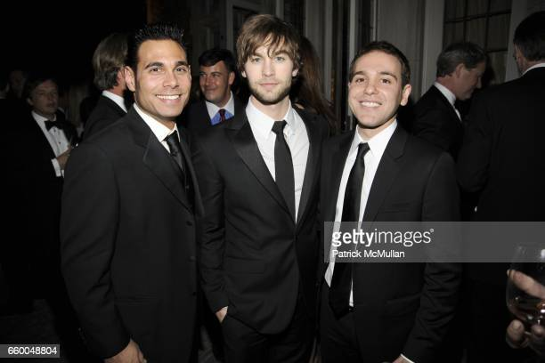 Eric Podwall Chase Crawford and Jon Lovett attend BLOOMBERG VANITY FAIR Cocktail Reception After the White House Correspondents' Dinner at The...