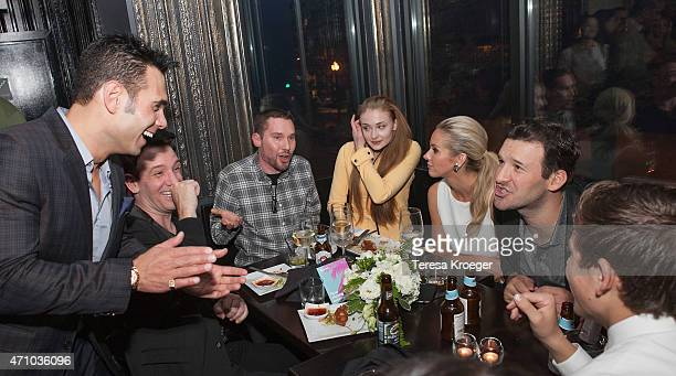 Eric Podwall JC Chasez Bryan Singer Sophie Turner Candice Crawford and Tony Romo attend The Evening Before a preWhite House Correspondents' Dinner...