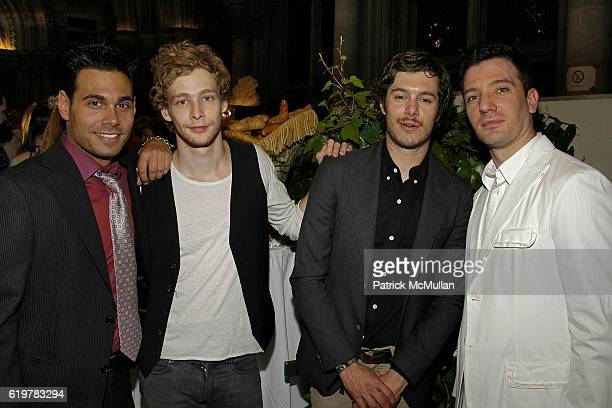 Eric Podwall Johnny Lewis Adam Brody and JC Chasez attend Life Ball 2007 at the Meridien Hotel on May 26 2007 in Vienna Austria