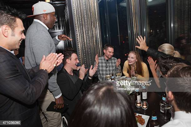 Eric Podwall Reggie Love JC Chasez Bryan Singer and Sophie Turner attend The Evening Before a preWhite House Correspondents' Dinner party hosted by...