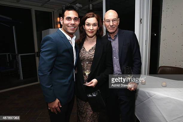 Eric Podwall Sunny Ozell and Patrick Stewart attend the Dom Perignon and Eric Podwall celebration of the evening before The White House...