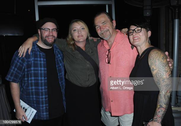 Eric Powell Alex Shyalott Bob Chapman and Andrea Smith attend the 31st 'Kinda'Annual' DeadDog Party held at The Barriohaus on July 22 2018 in San...