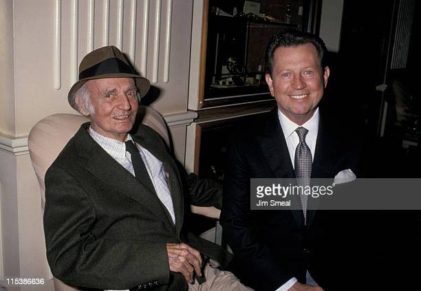 Eric Rhodes and Donald O'Connor during American Cinema Awards Rehearsals at Beverly Hilton Hotel in Beverly Hills Hotel California United States