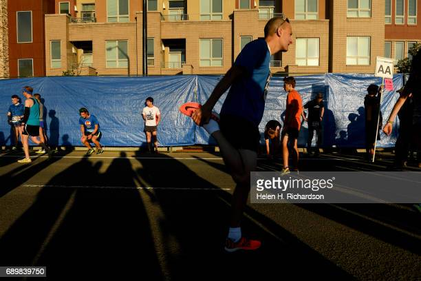 Eric Richards of Broomfield warms up for his 12th Bolder Boulder on May 29 2017 in Boulder Colorado This marks the 39th year for the Bolder Boulder...