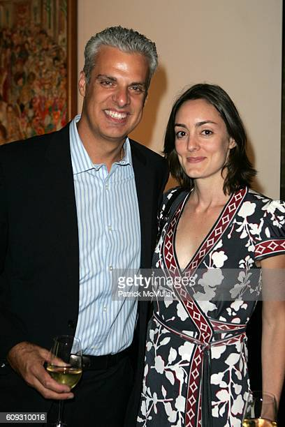 Eric Ripert and Mandy Oser attend MARTHA STEWART SIRIO MACCIONI and ANDREW BORROK Host a Lucheon to Celebrate 'NO RESERVATIONS' at Le Cirque on July...