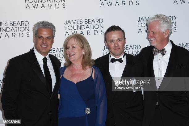 Eric Ripert Susan Ungaro guest and Woody Campbell attend The 2009 JAMES BEARD FOUNDATION AWARDS at Avery Fisher Hall at Lincoln Center on May 4 2009...