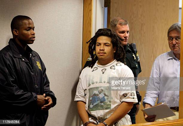 Eric Rivera 17 followed by his attorney Wilbur Smith makes his first court appearance in a Fort Myers Florida courtroom on Saturday December 1 after...