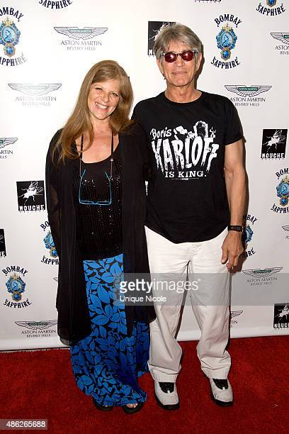 Eric Roberts and Eliza Roberts arrive at the VIP opening reception for DisEase an evening of fine art with Billy Morrison at Mouche Gallery on...