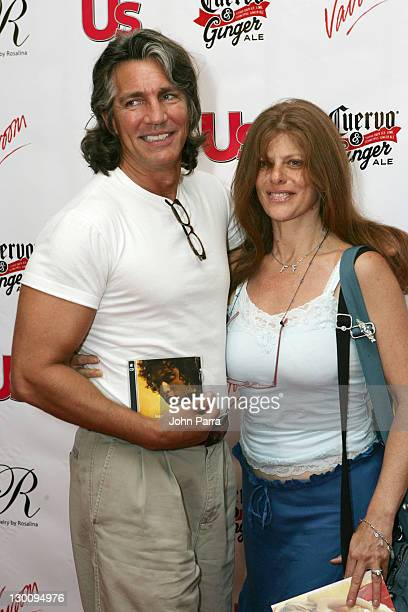 Eric Roberts and Eliza Roberts during 2005 MTV VMA US Weekly Party Hosted by Cuervo Ginger Red Carpet at Sagamore Hotel in Miami Florida United States