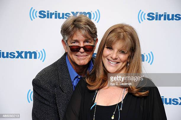 Eric Roberts and Eliza Roberts visit the SiriusXM Studios on April 16 2014 in New York City