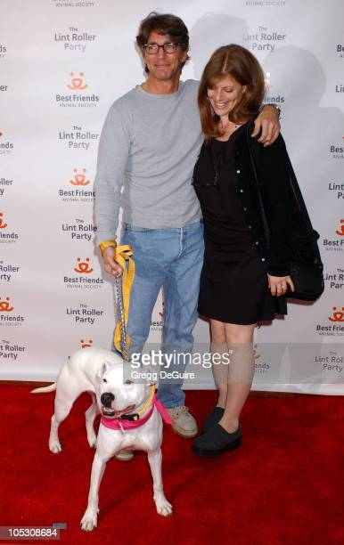 Eric Roberts and wife Eliza during 2004 Annual Lint Roller Party at Hollywood Athletic Club in Hollywood California United States