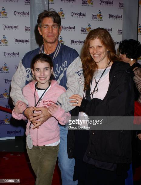 Eric Roberts daughter Emma and wife Eliza during Snow White An Enchanting New Musical Premiere Arrivals at Fantasyland Theatre at Disneyland in...