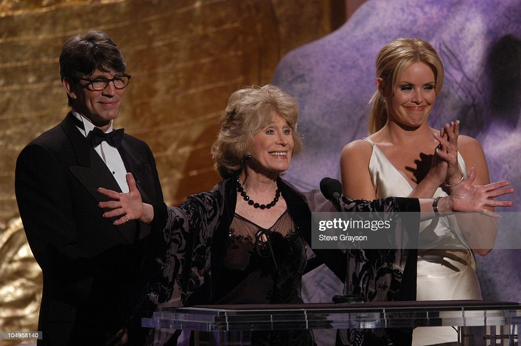 Eric Roberts, Gretchen Wyler and Gena Lee Nolin. during The 17th Annual Genesis Awards - Show at The Beverly Hilton Hotel in Beverly Hills, California, United States.