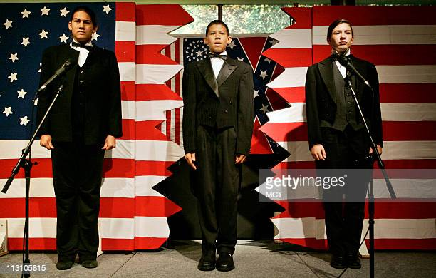 Eric Romero Daniela Romero and Jordan Permantier of Orange County California participate in the National History Day competition June 15 2005 with...