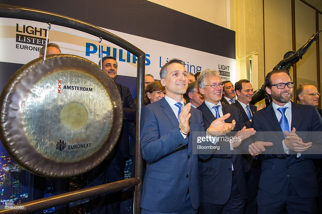 Eric Rondolat chief executive officer of Philips Lighting NV left and Frans van  sc 1 st  Getty Images & Royal Philips NV Make IPO At Amsterdam Stock Exchange Photos and ...