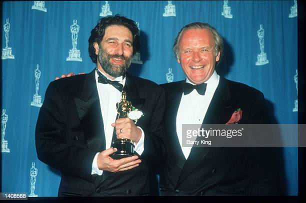 Eric Roth and Sir Anthony Hopkins attend the 67th Annual Academy Awards ceremony March 27 1995 in Los Angeles CA This year''s ceremony recognizes...