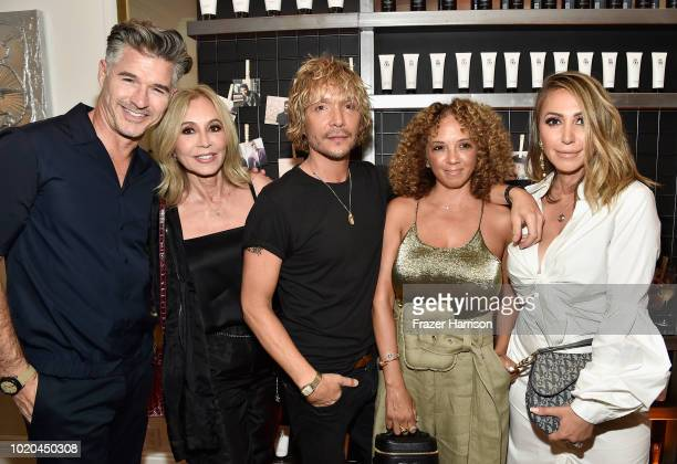 Eric Rutherford Anastasia Soare Ken Paves Charlene Roxborough and Diana Madison attend the House 99 by David Beckham party hosted by Ken Paves at his...
