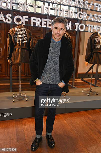 Eric Rutherford attends the Barbour International presentation during London Fashion Week Men's January 2017 collections at RIBA on January 6 2017 in...