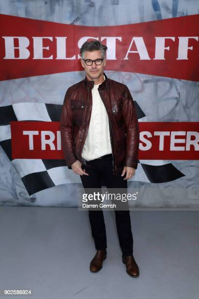Eric Rutherford attends the Belstaff AW18 Mens Womens Presentation during London Fashion Week Men's January 2018 on January 8 2018 in London England