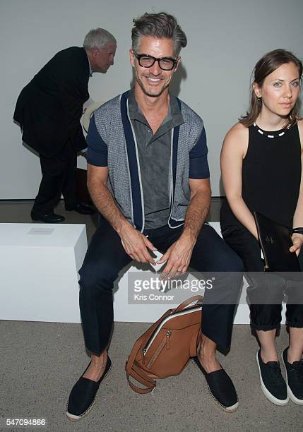 Eric Rutherford attends the Deveaux show at Spring Studios on July 13, 2016 in New York City.