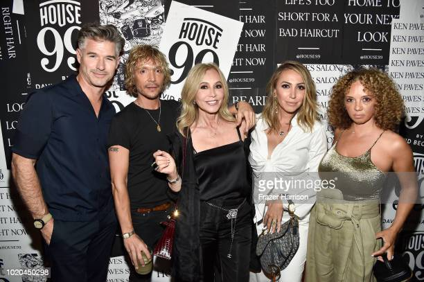Eric Rutherford Ken Paves Anastasia Soare Diana Madison and Charlene Roxborough attend the House 99 by David Beckham party hosted by Ken Paves at his...