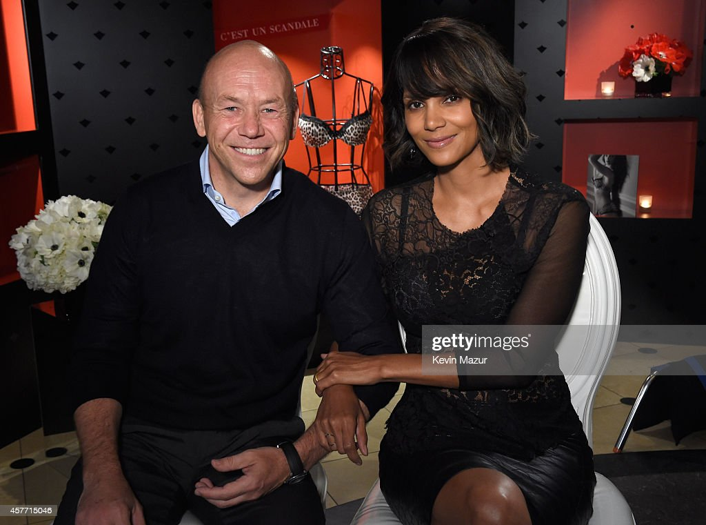 Eric Ryd and Halle Berry unveil 'Scandale Paris' at Laduree Soho on October 23, 2014 in New York City.