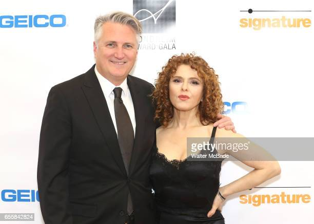 Eric Schaeffer and Bernadette Peters attend the 2017 Sondheim Award Gala at the Italian Embassy on March 20 2017 in Washington DC