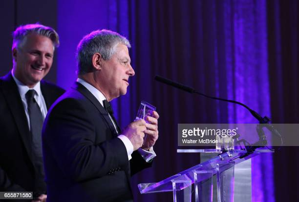 Eric Schaeffer and Cameron Mackintosh during the 2017 Sondheim Award Gala at the Italian Embassy on March 20 2017 in Washington DC