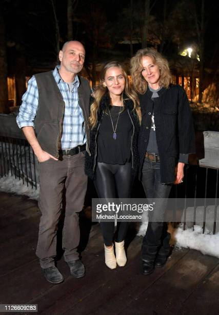 Eric Schlosser Lauren Jenkins and Shauna Redford attend the Running Out of Road music short film premiere during Sundance Film Festival 2019 at The...
