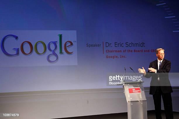Google Ceo Eric Schmidt Gives Closing Speech At Ifa Electronics Fair