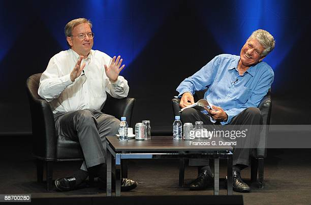 Eric Schmidt Chairman of the Board Chief Executive Officer Google and Maurice Levy Chairman and CEO of Publicis Groupe attend the Publicis Seminar as...